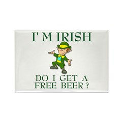 Free Beer? Rectangle Magnet (100 pack)