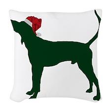 Treeing-Walker-Coonhound23 Woven Throw Pillow