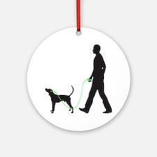 Treeing-Walker-Coonhound34 Round Ornament