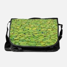 Massive water lily type aquatic plan Messenger Bag