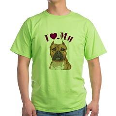Heart Staffy / Pit Bull T-Shirt
