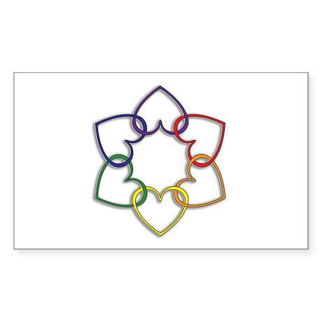 Poly Logo Rectangle Sticker