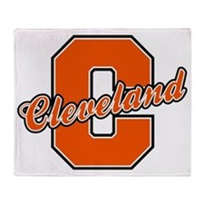 Cleveland Letter Throw Blanket