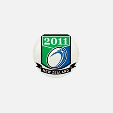 Rugby ball New Zealand 2011 Mini Button