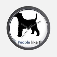 Wire-Fox-Terrier03 Wall Clock