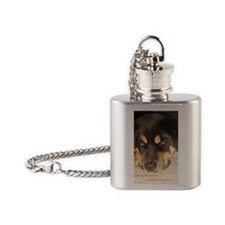sympathy family Flask Necklace