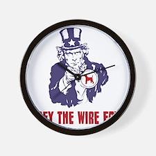 Wire-Fox-Terrier18 Wall Clock