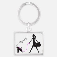 Welsh-Terrier32 Landscape Keychain
