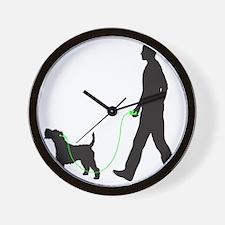 Wire-Fox-Terrier34 Wall Clock