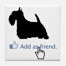 Scottish-Terrier13 Tile Coaster