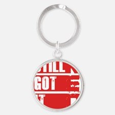 red still got it Round Keychain