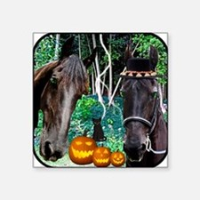 "horse2halloween copy Square Sticker 3"" x 3"""
