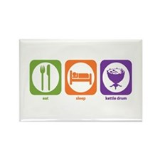 Eat Sleep Kettle Drum Rectangle Magnet