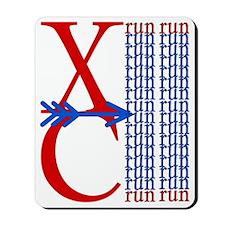 XC Run Red Blue Mousepad