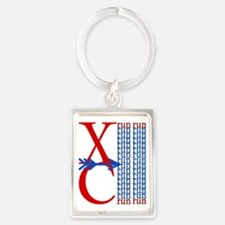 XC Run Red Blue Portrait Keychain