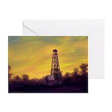 old derick sunset large framed print Greeting Card