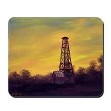 old derick sunset large framed print Mousepad