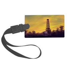 old derick sunset large framed p Luggage Tag