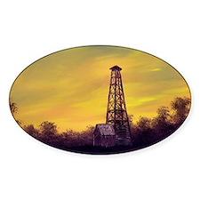 old derick sunset large framed prin Bumper Stickers