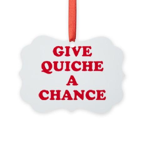 quiche Picture Ornament