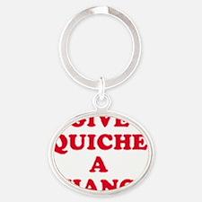 quiche Oval Keychain