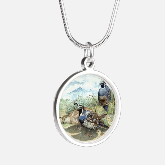 Quail Silver Round Necklace