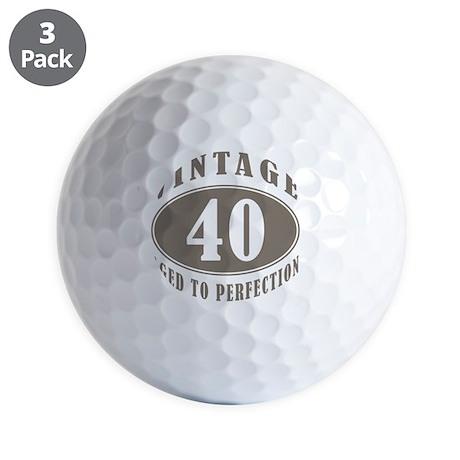 vintageBr40 Golf Balls