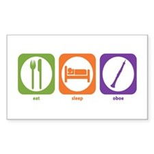 Eat Sleep Oboe Rectangle Decal