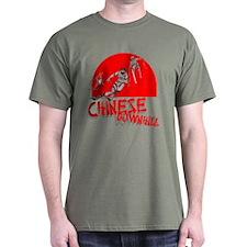 Chinese Downhill Military Green T-Shirt