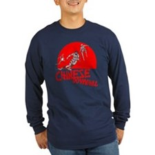 Chinese Downhill Long Sleeve Navy T-Shirt