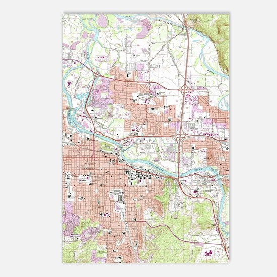 Funny Map oregon Postcards (Package of 8)