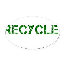 Go Green Recycle Congress Dark Oval Car Magnet