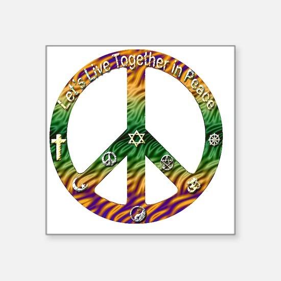 """peace copy Square Sticker 3"""" x 3"""""""