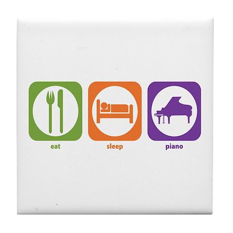 Eat Sleep Piano Tile Coaster