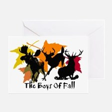 The Boys Of Fall Greeting Card