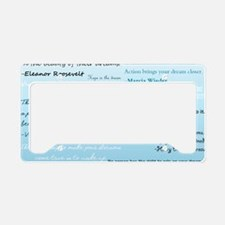 DreamsPostCard License Plate Holder