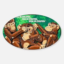 3MONKEYS-FINAL Sticker (Oval)