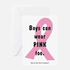 boys-can-wear-pink-too Greeting Card