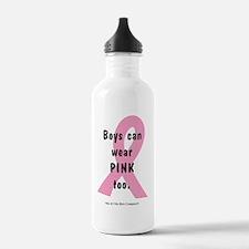 boys-can-wear-pink-too Water Bottle