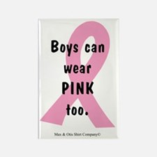 boys-can-wear-pink-too Rectangle Magnet