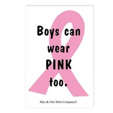 boys-can-wear-pink-too Postcards (Package of 8)