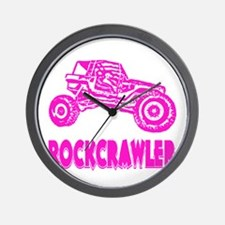 Rock Crawler_1013_pink Wall Clock