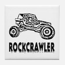 Rock Crawler_1012_black Tile Coaster