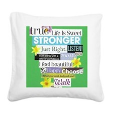stronger16x20green Square Canvas Pillow