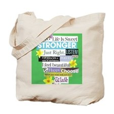 stronger16x20green Tote Bag