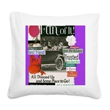 bestfriends16x20purp Square Canvas Pillow