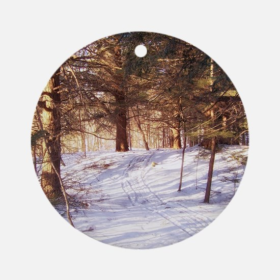 In to the woods Round Ornament