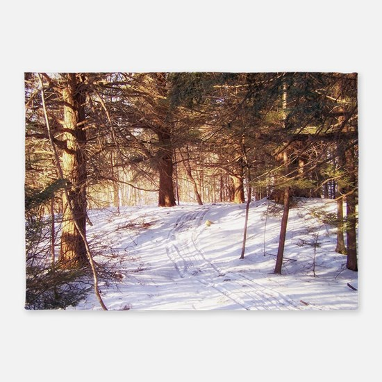 In to the woods 5'x7'Area Rug