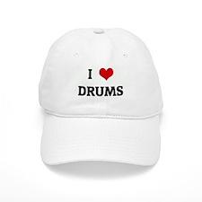 I Love DRUMS Baseball Cap