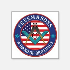 """Band Of Brother Masons Square Sticker 3"""" x 3"""""""